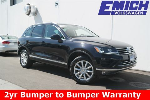 Certified Pre-Owned 2015 Volkswagen Touareg TDI Sport w/ Technology